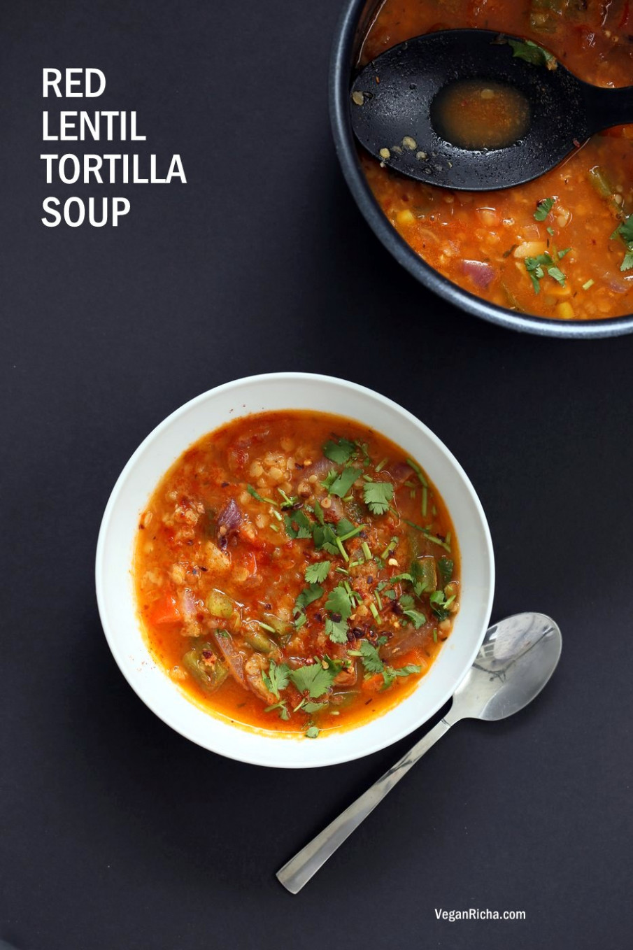 1 Pot Red Lentil Tortilla Soup - Instant Pot/Saucepan ...
