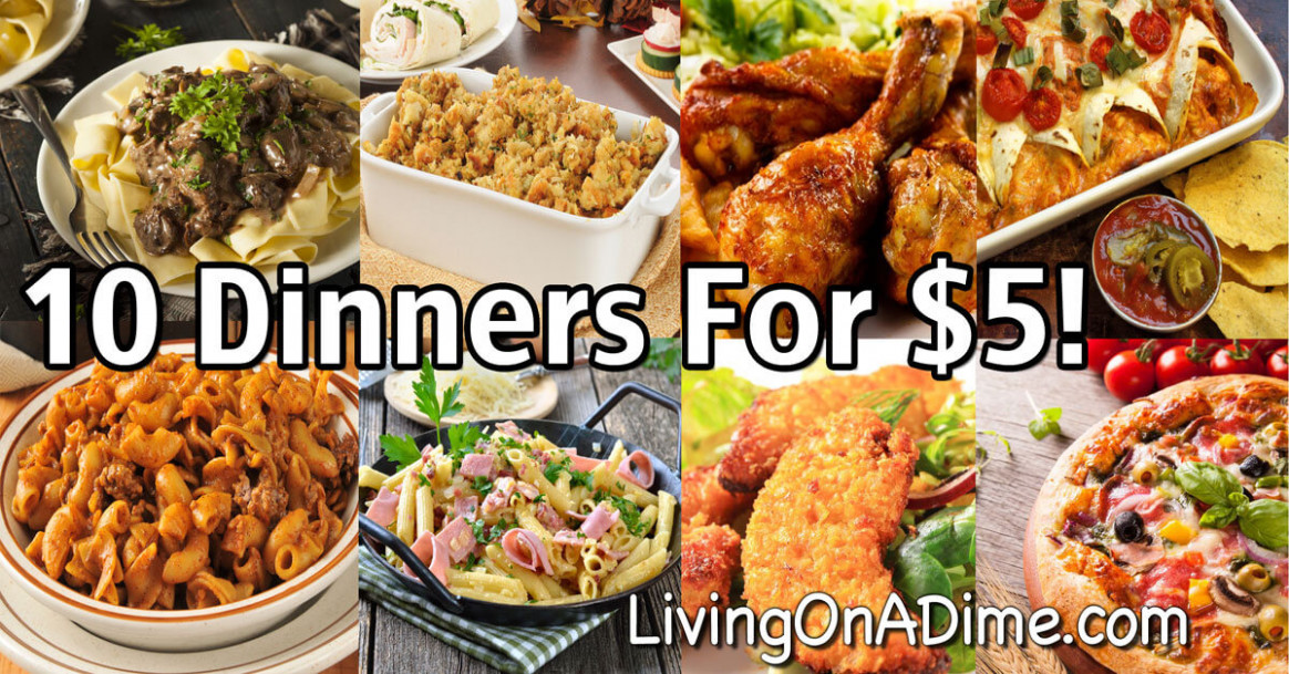 10 Dinners For $5 - Cheap Dinner Recipes And Ideas ...
