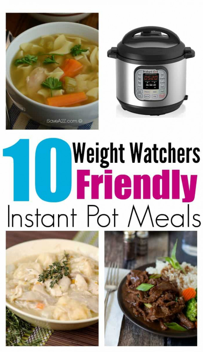 10 Instant Pot Recipes For Weight Watchers | All Mommy Wants