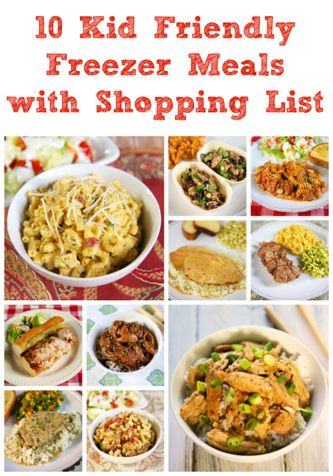 10 Kid Friendly Freezer Meals with Shopping List | Plain ...