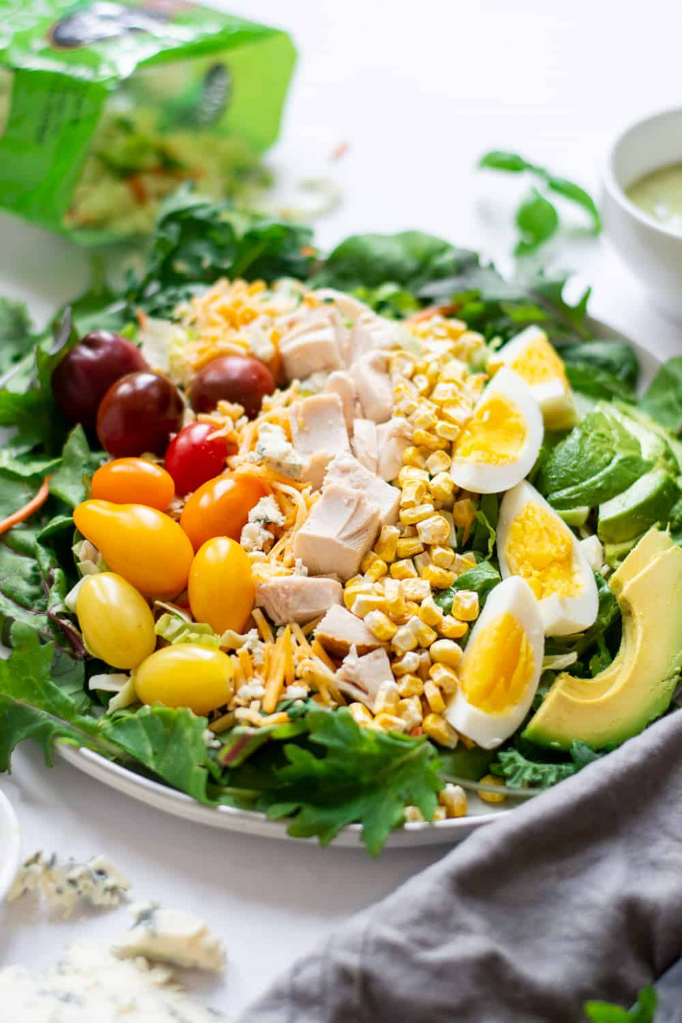 10-Minute Rotisserie Chicken Cobb Salad Recipe