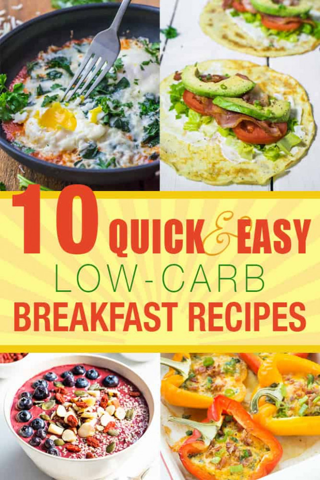 10 Quick and Easy Low-Carb Breakfast Recipes | Living Chirpy