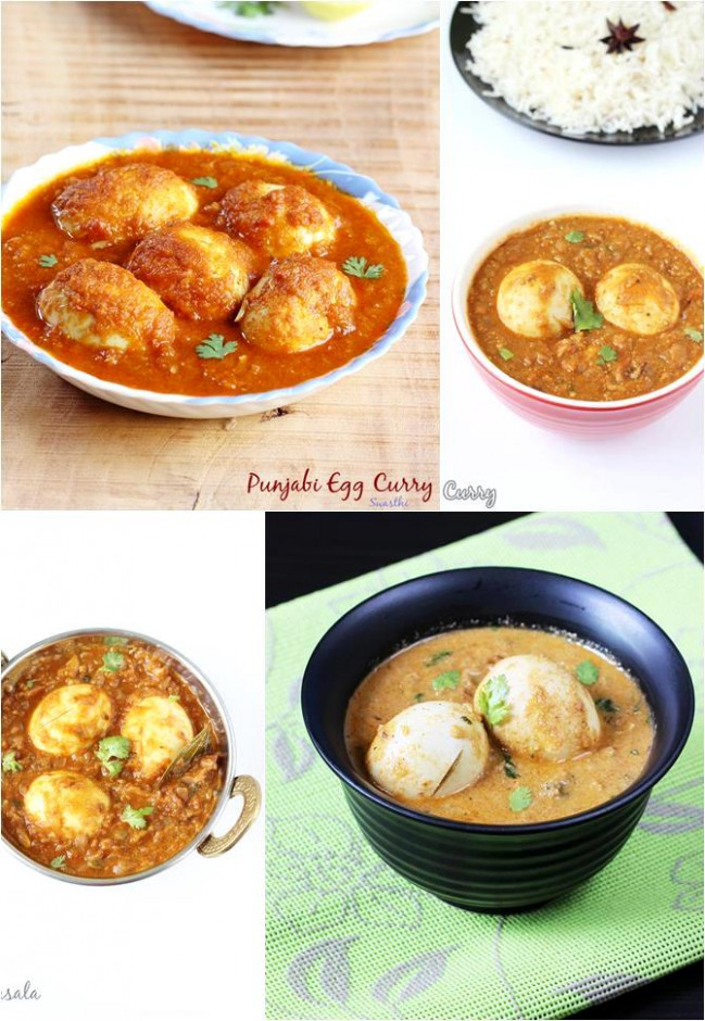 10 Simple Egg Curry Recipes | Easy Indian egg gravy recipes