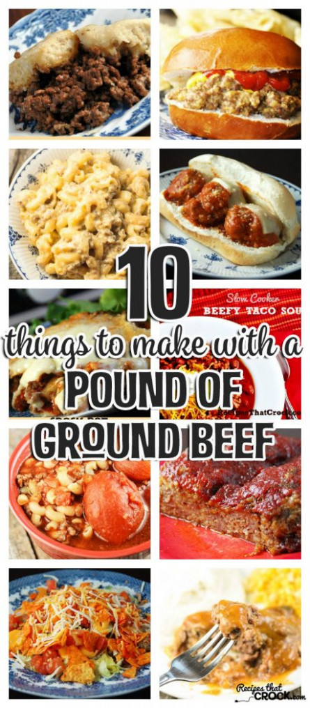 10 Things To Make With A Pound of Ground Beef - Recipes ...