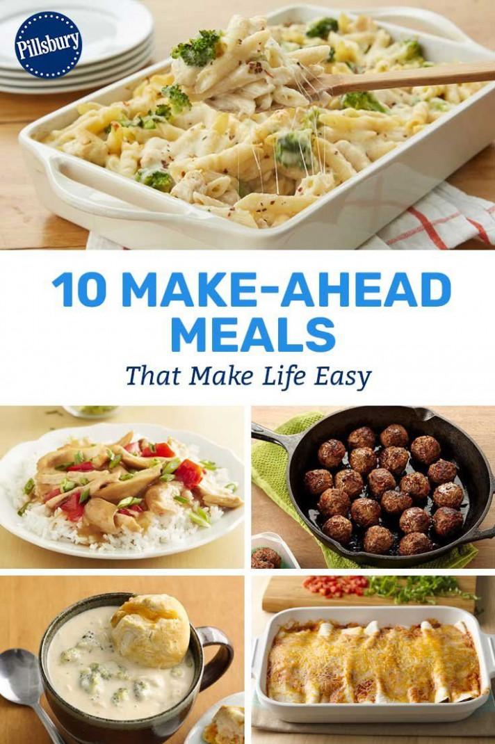 11 Make-Ahead Meals That Make Life Easy | Dinner Recipes in ...