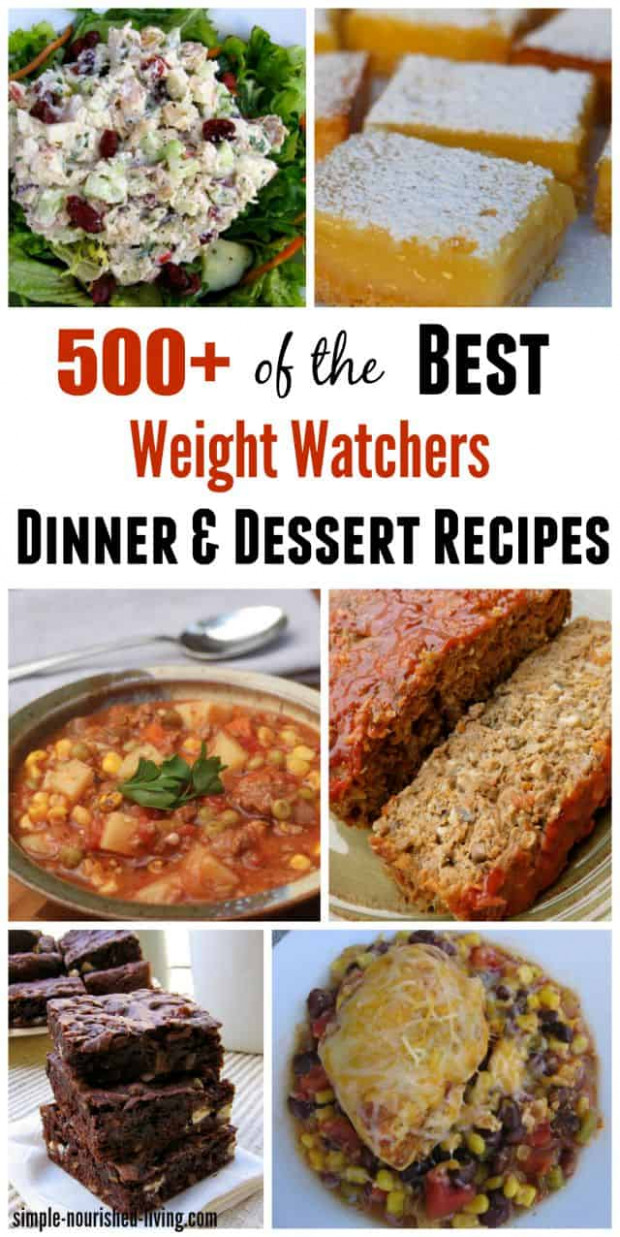 11+ Weight Watchers Recipes for Dinner and Dessert