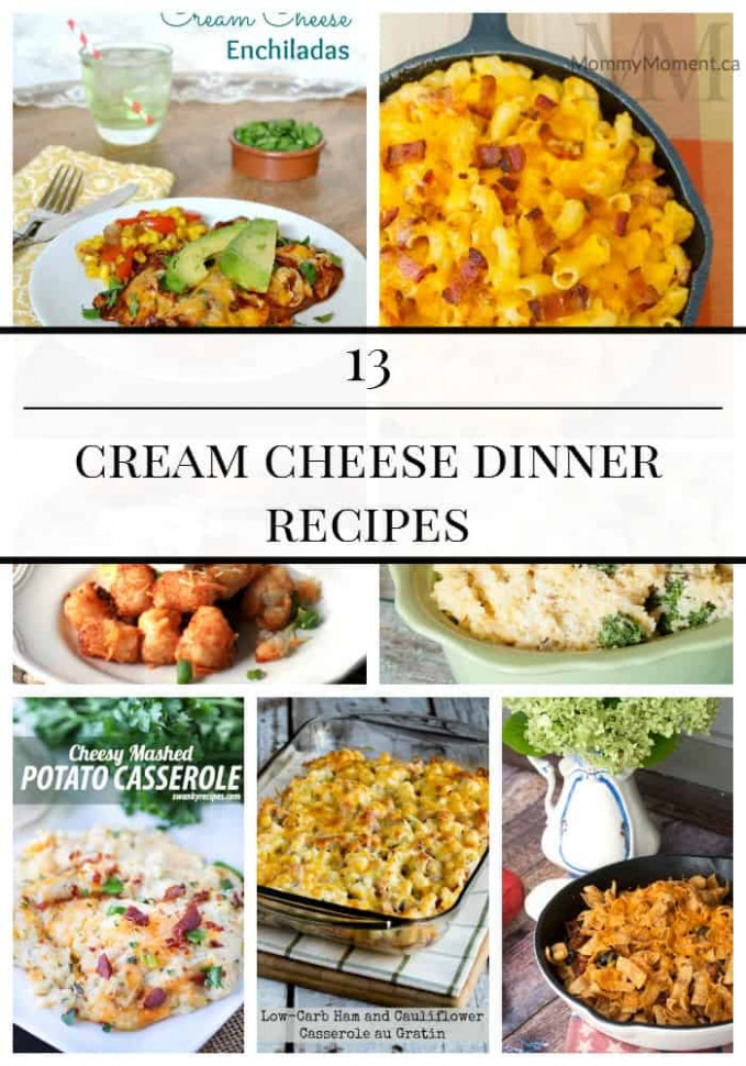 13 CREAM CHEESE DINNER RECIPES - Mommy Moment