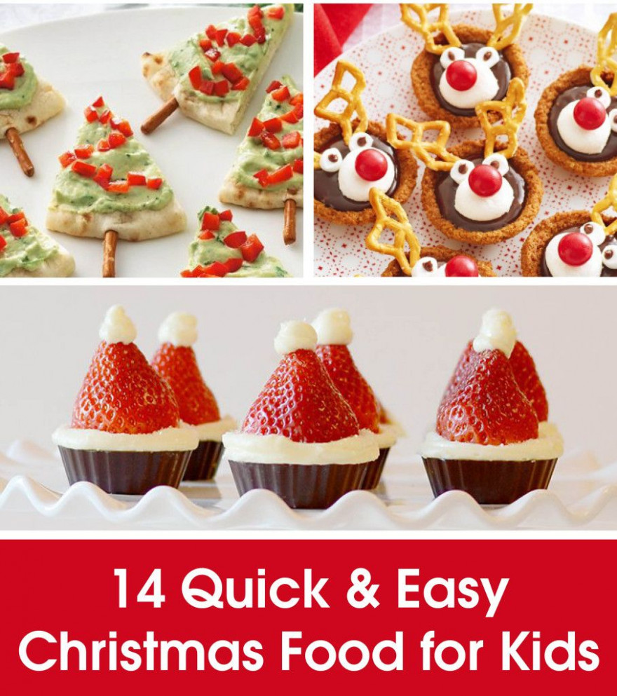 14 QUICK & EASY CHRISTMAS FOOD FOR KIDS | dessert ideas ...