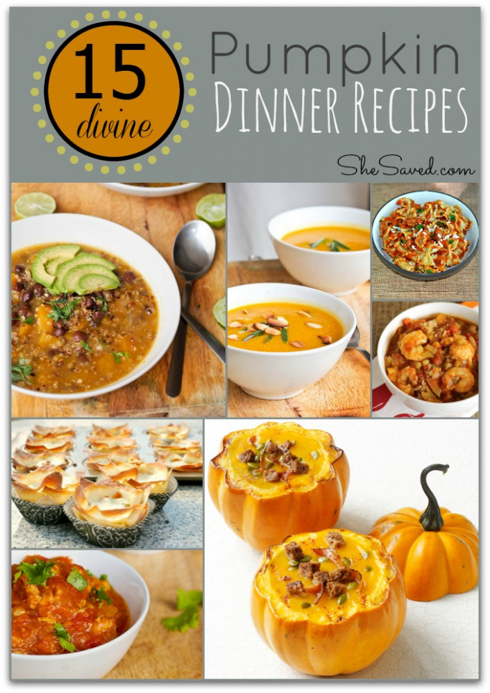 15 Divine Pumpkin Dinner Recipes - SheSaved®