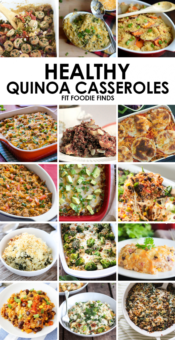 15 Healthy Quinoa Casserole Recipes - Fit Foodie Finds