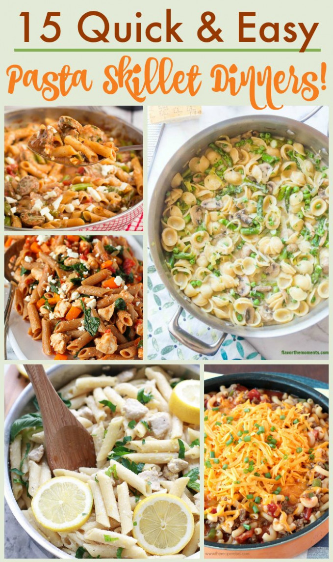 15 Pasta Skillet Recipes for Dinner in a Hurry! - The ...