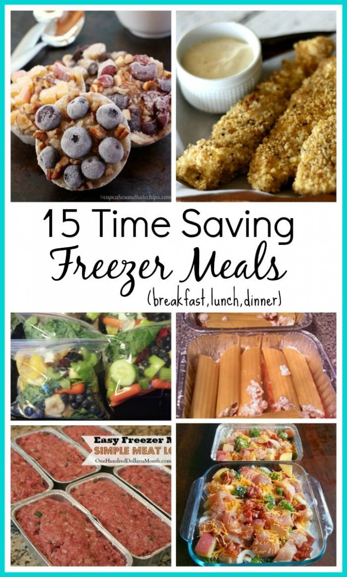 15 Time Saving Freezer Meal Recipes | Food | Freezer meals ...