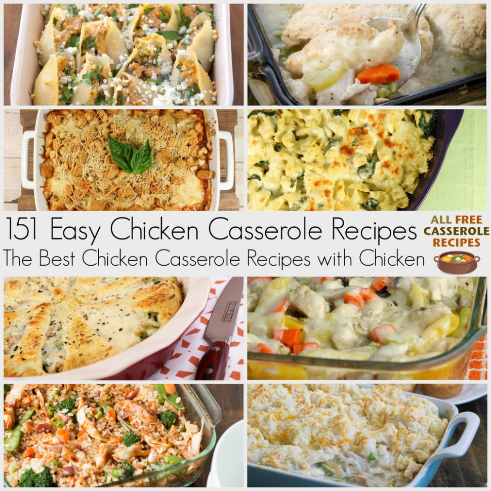 151+ Easy Chicken Casserole Recipes: The Best Casserole ...