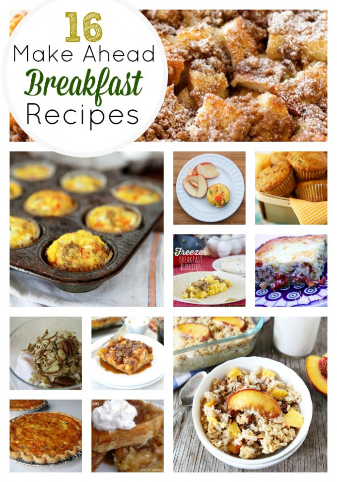 16 Amazing Make Ahead Breakfast Recipes | Skip To My Lou