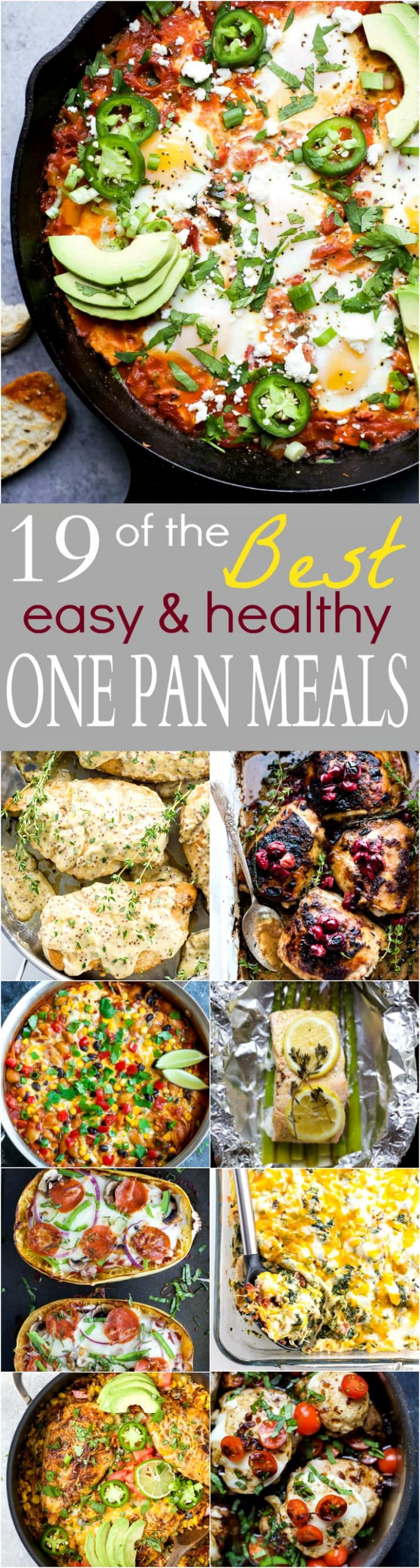 19 of the BEST Easy & Healthy One Pan Meals | Easy Healthy ...