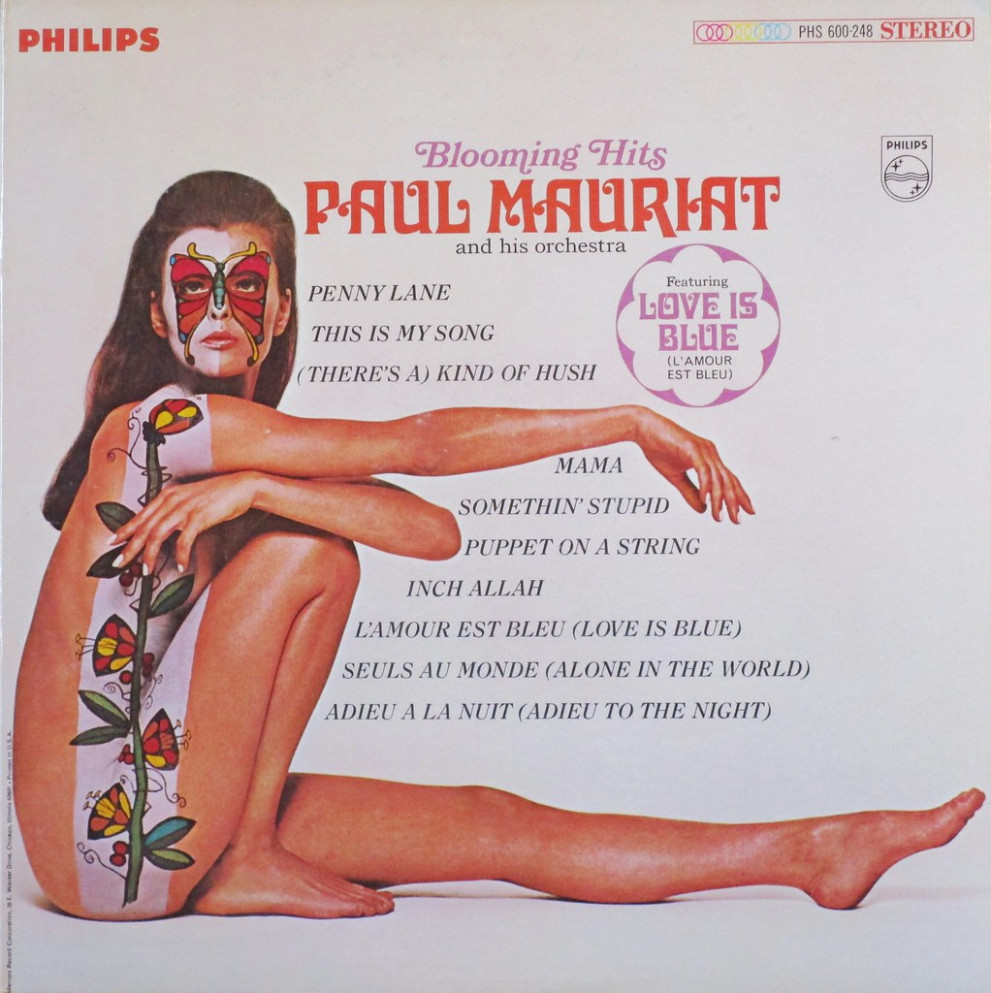 1967, Provocative Vintage Vinyl LP Cover: Blooming Hits, Paul Mauriat & His Orchestra