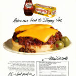 1972 Food Ad, Kraft Velveeta Cheese Spread & Barbecue Sauce, with Sloppy Joes Recipe