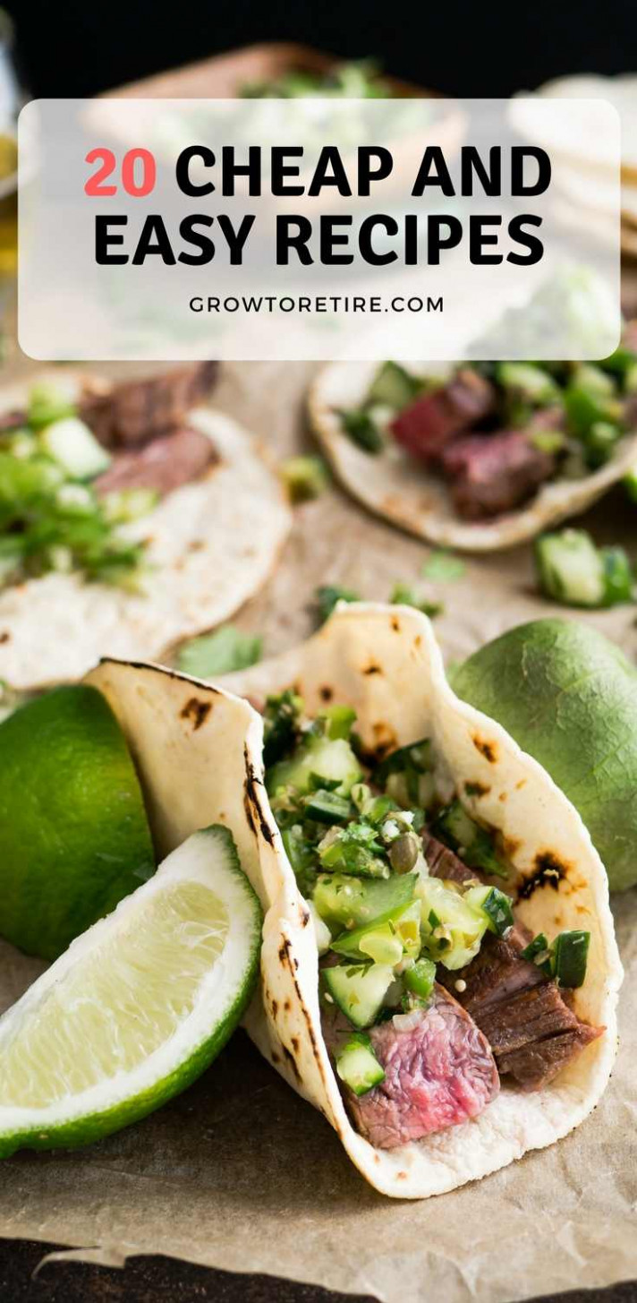 20 cheap and easy recipes PINTEREST - Grow to Retire