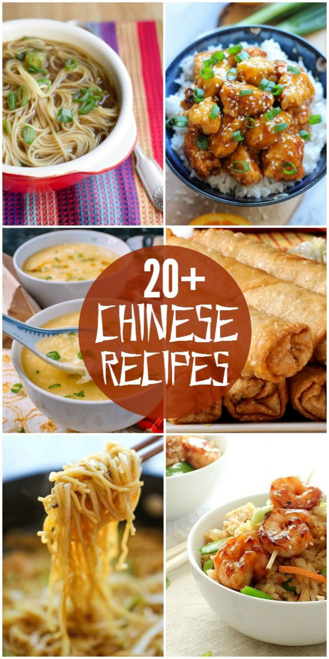 20+ Chinese Food Recipes | Chinese Recipes | Homemade ...