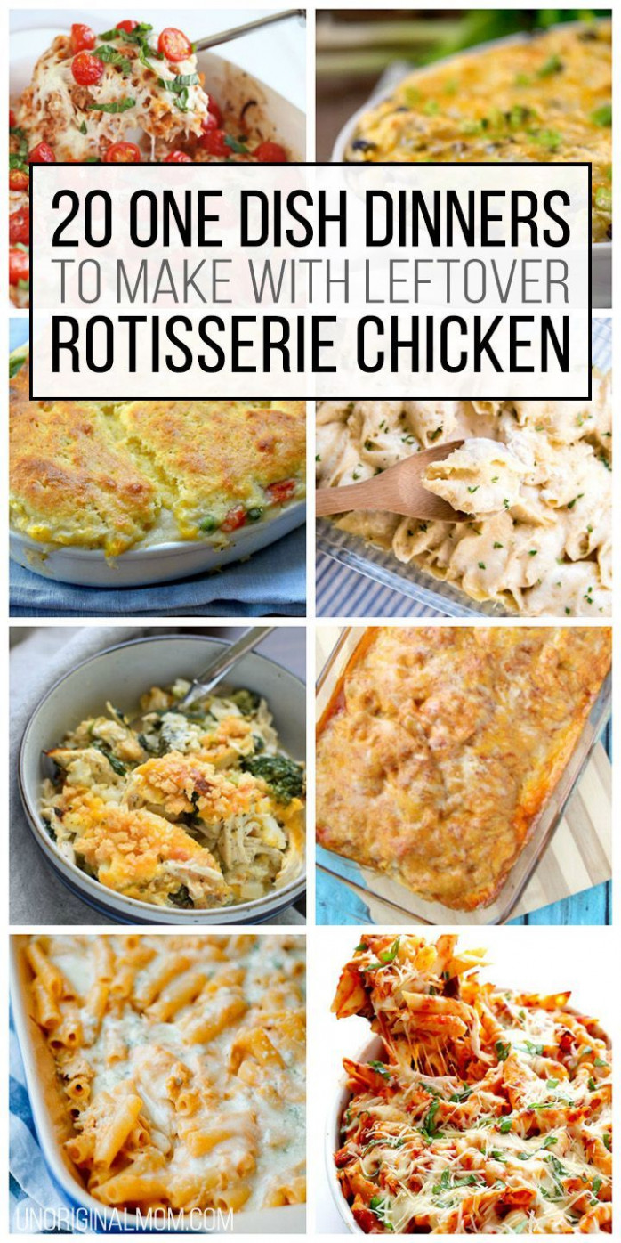 20 One Dish Dinners to Make With Leftover Rotisserie ...