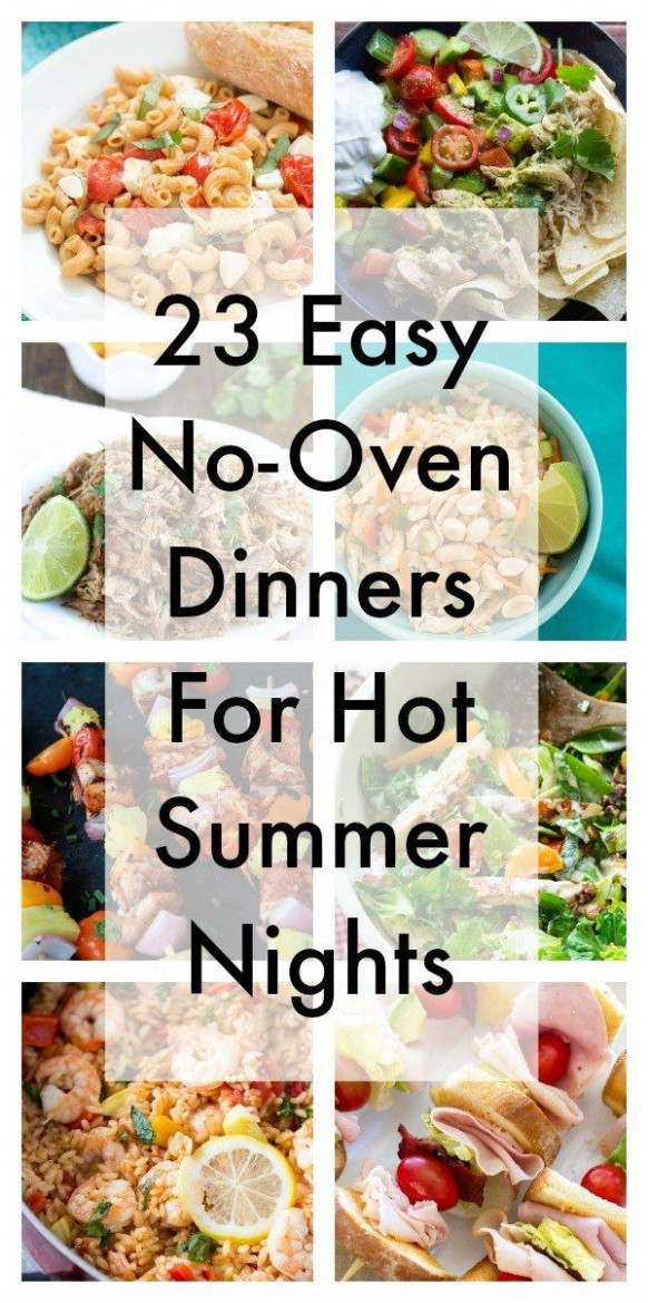 23 Easy No-Oven Dinners For Hot Summer Nights | summer ...