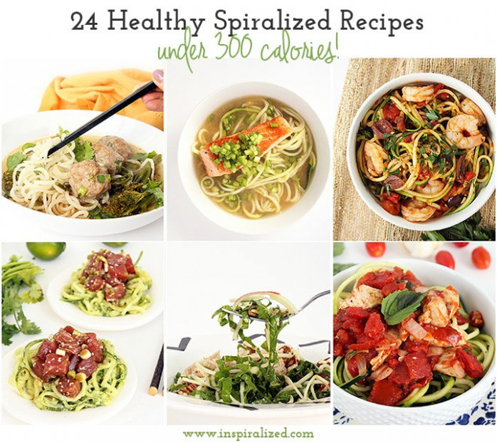 24 Healthy Spiralized Recipes under 300 Calories + Tips ...