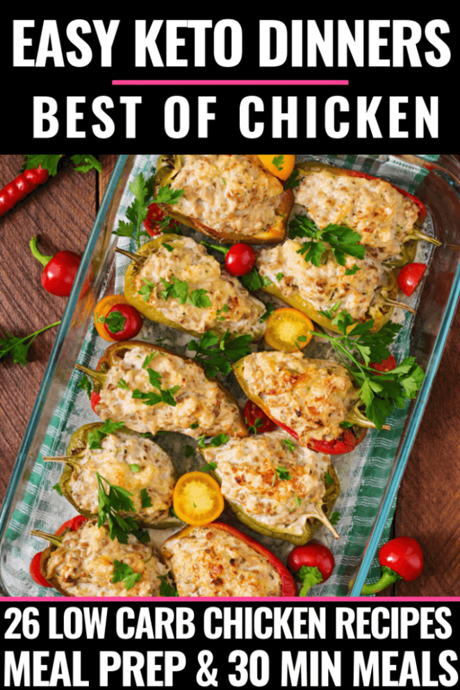 26 Easy Keto Chicken Dinner Recipes Perfect for Meal Prep