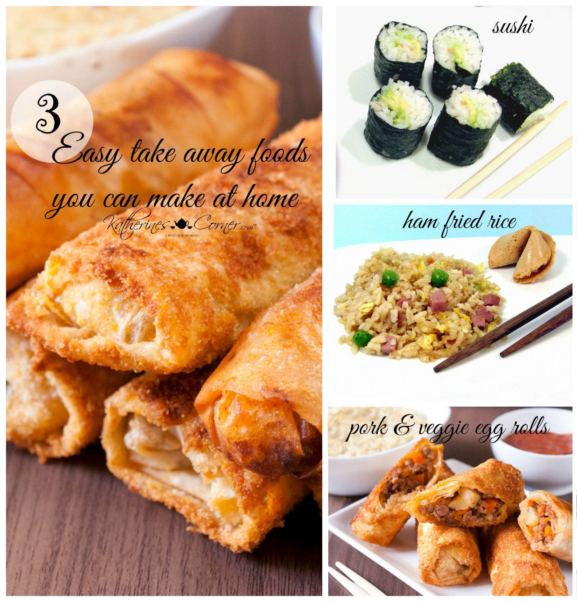 3 Easy Take Away Foods You Can Make At Home – Katherines …