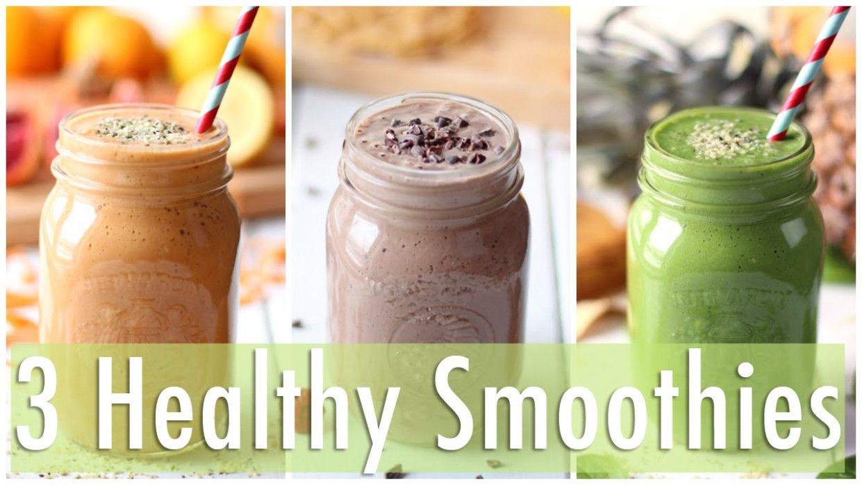 3 Healthy Smoothie Recipes | Healthy Breakfast Ideas - YouTube