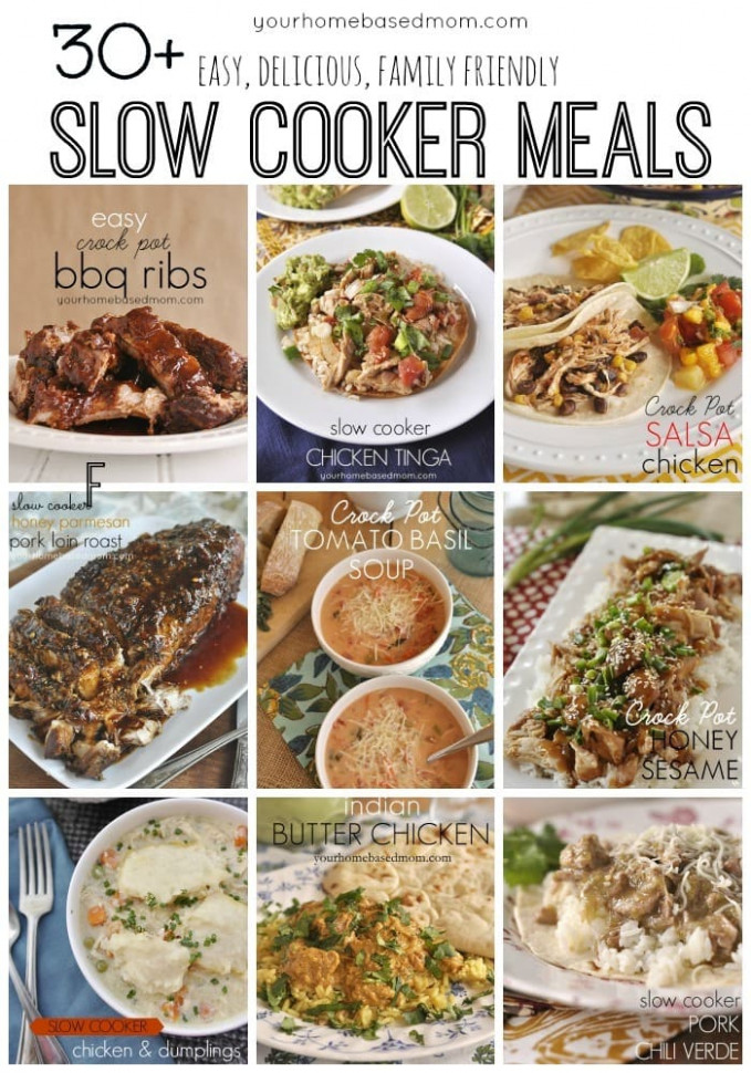 30+ Easy, Delicious, Family Friendly, Slow Cooker Meals ...