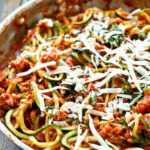 30 Minute Turkey Bolognese Zucchini Noodles