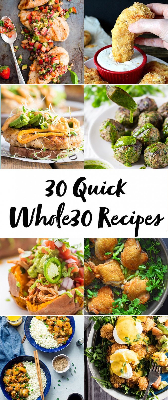 30 Quick Whole30 Recipes (Whole30 Dinner Recipes)