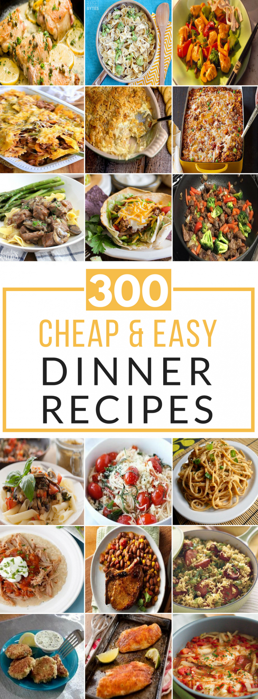 300 Cheap and Easy Dinner Recipes - Prudent Penny Pincher