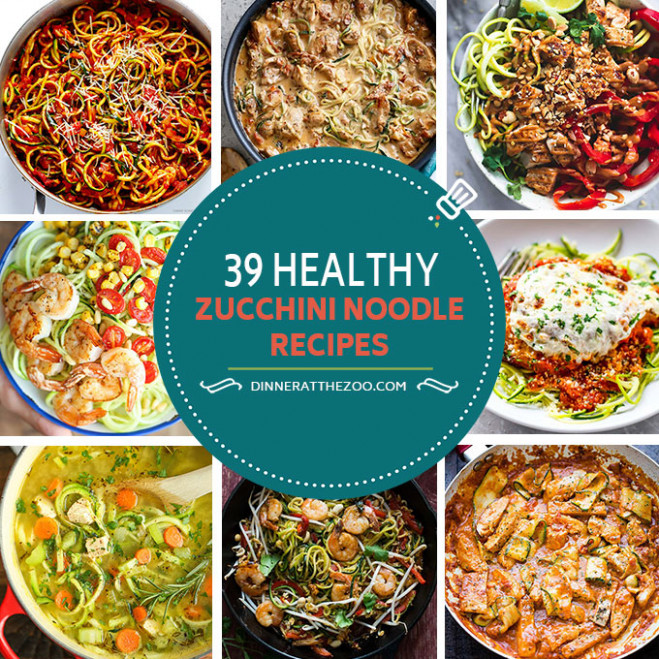 39 Healthy Zoodle (Zucchini Noodle) Recipes - Dinner at ...