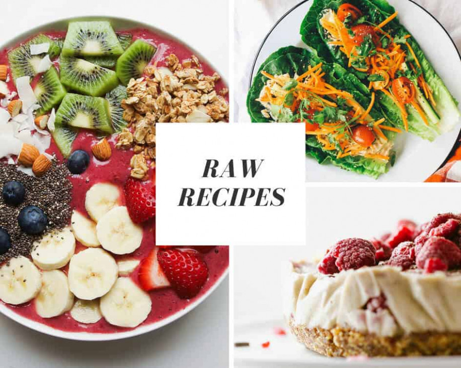 'Raw' Vegan Recipes - The Simple Veganista