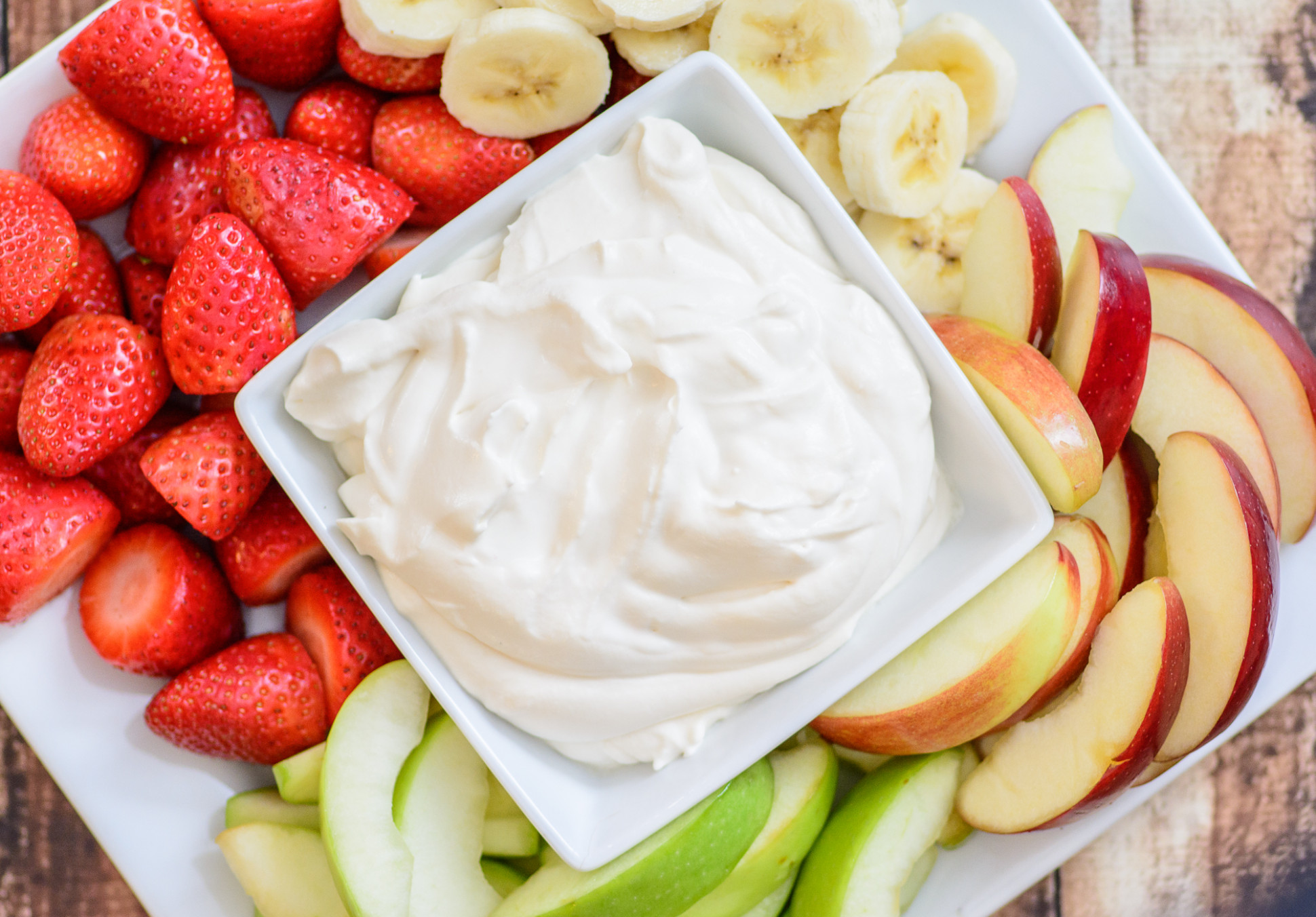 4 Ingredient Healthy Yogurt Fruit Dip - Almost Supermom