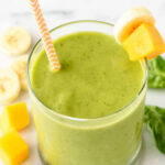 4 Ingredient Mango Green Smoothie | Well Plated By Erin