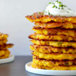 5 Ingredient Butternut Squash Fritters | Just A Taste