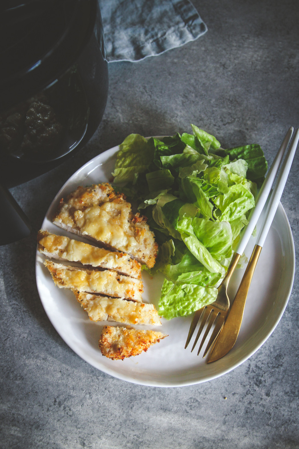 5 Ingredient Crispy Cheesy Air Fryer Chicken Dinner Recipe ...