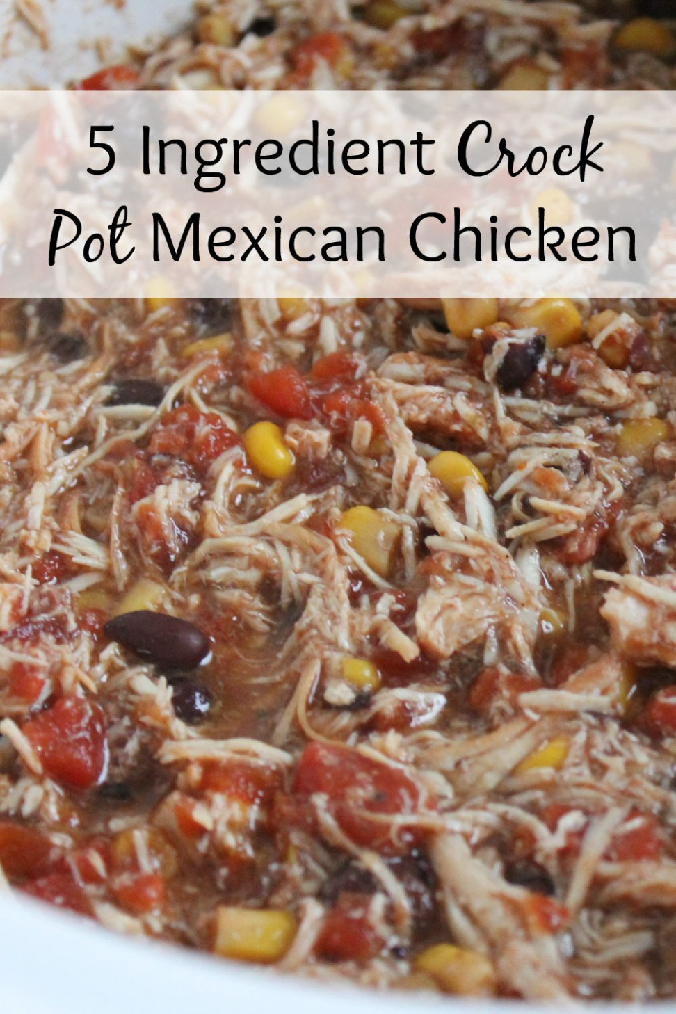 5 Ingredient Crock Pot Mexican Chicken