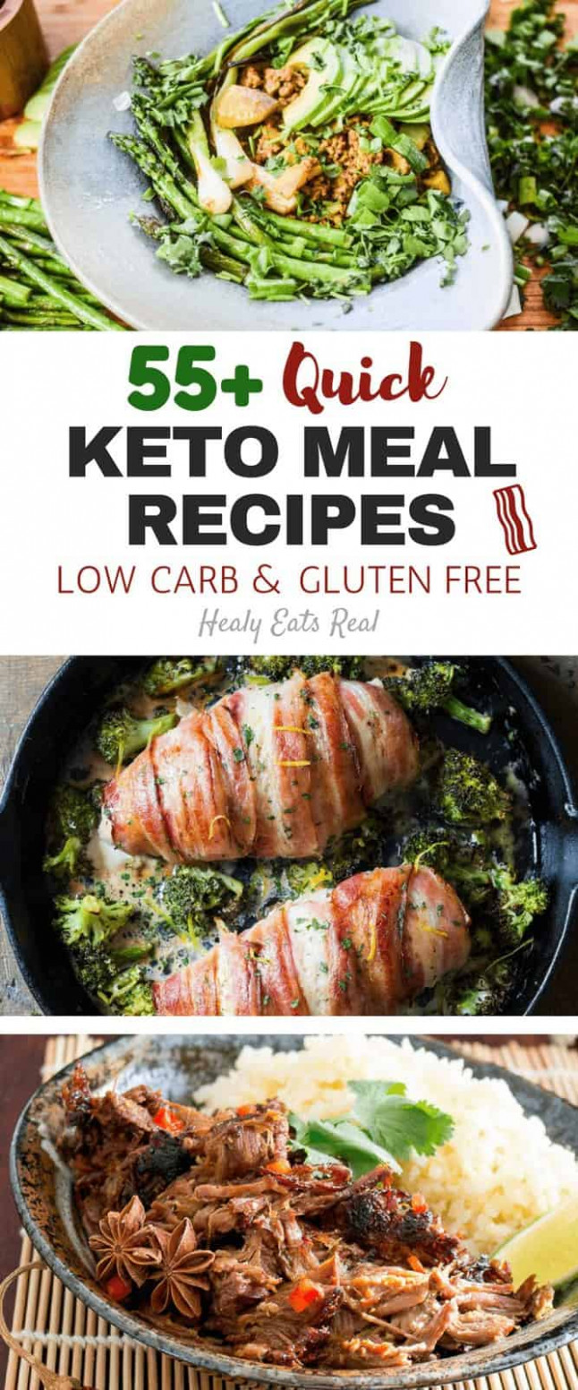 55+ Quick Keto Meal Recipes (Low Carb & Gluten Free ...