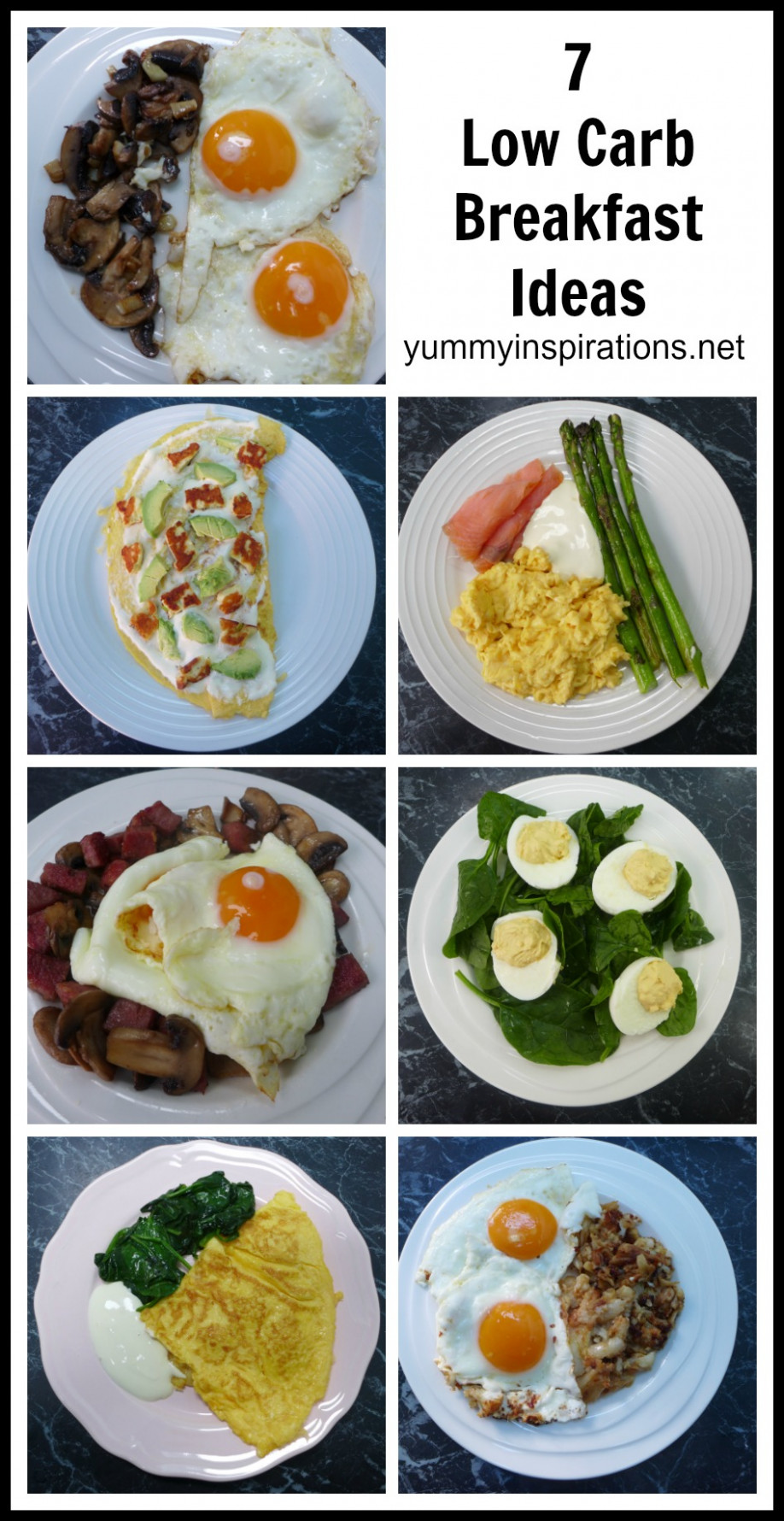 7 Low Carb Breakfast Ideas - A week of Keto Breakfast Recipes