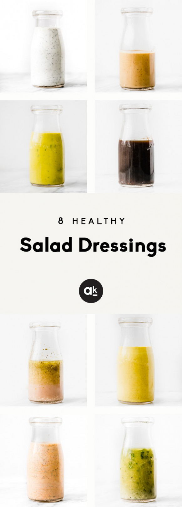 8 Homemade Healthy Salad Dressings | Ambitious Kitchen