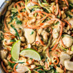 8 Minute Cashew Chicken Zoodles