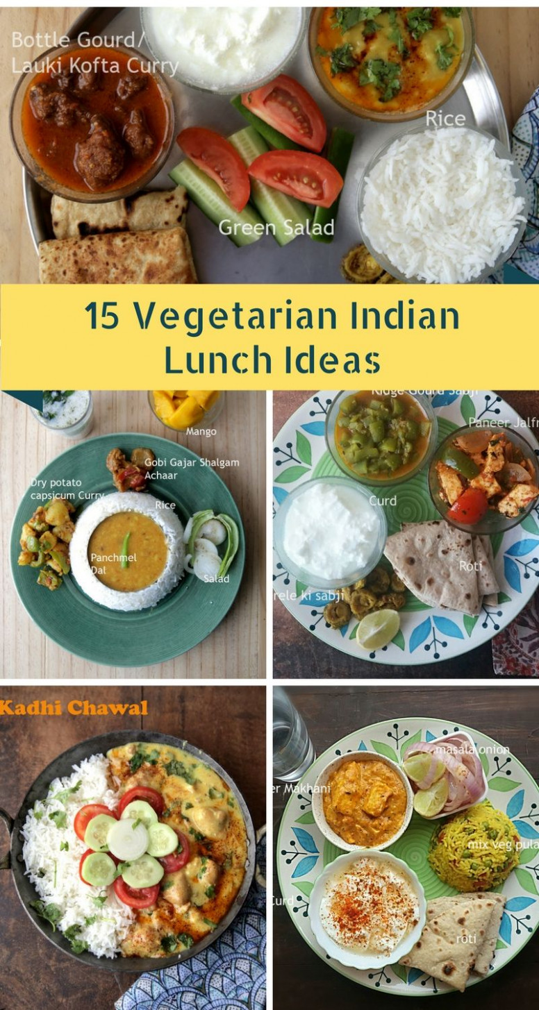 8 Vegetarian Indian Lunch Ideas | Indian Recipes | Lunch ...