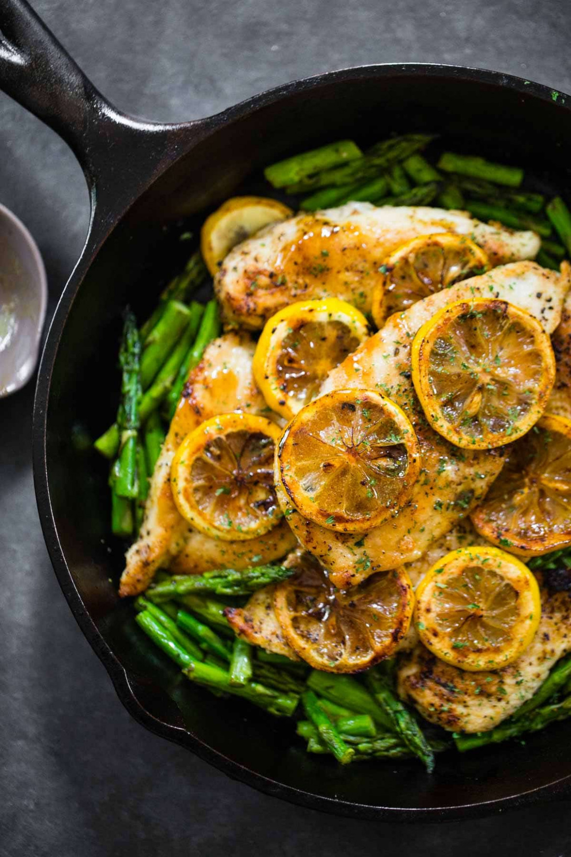 9 Ingredient Lemon Chicken with Asparagus Recipe - Pinch of Yum
