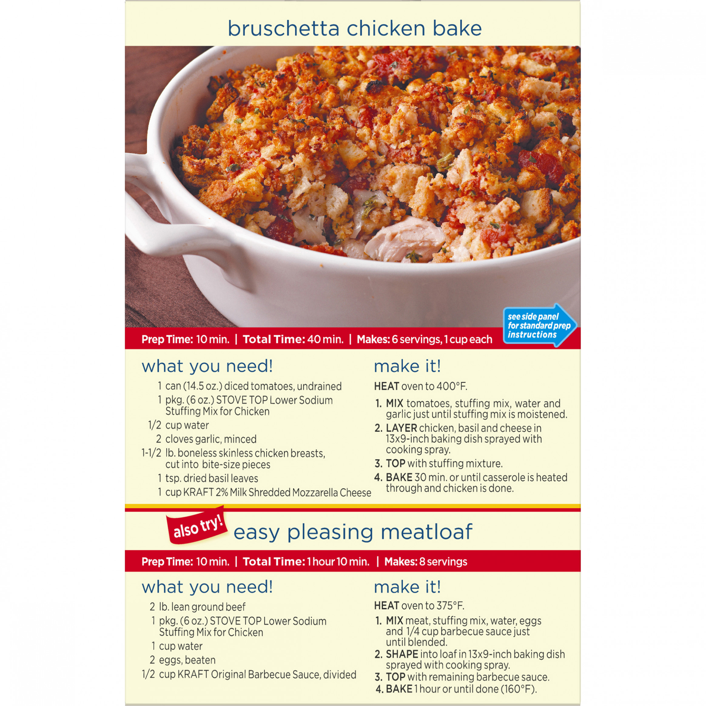(9 Pack) Kraft Stove Top Low-Sodium Chicken Stuffing Mix, 9 oz Box