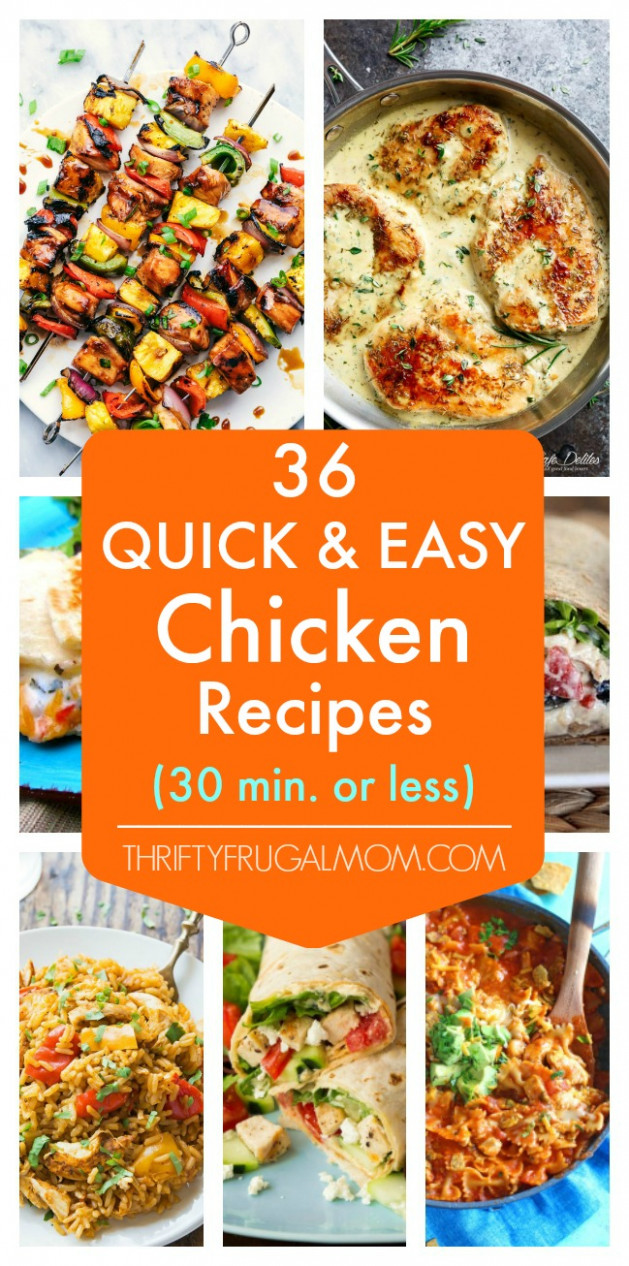 9 Quick and Easy Chicken Recipes- all 9 minutes or less