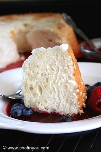 A fat free Cake made from Egg whites with a delicious ...