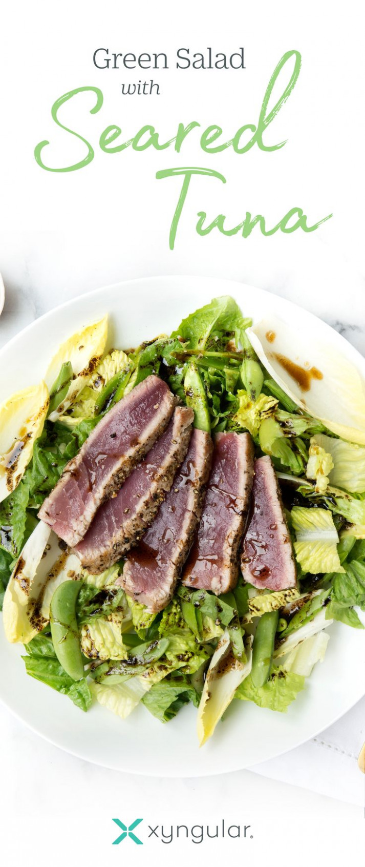 A healthy Green Salad with Seared Tuna recipe approved for ...